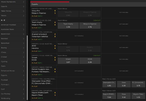 Betsafe best odds and markets