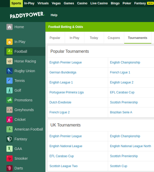 Paddy Power Market