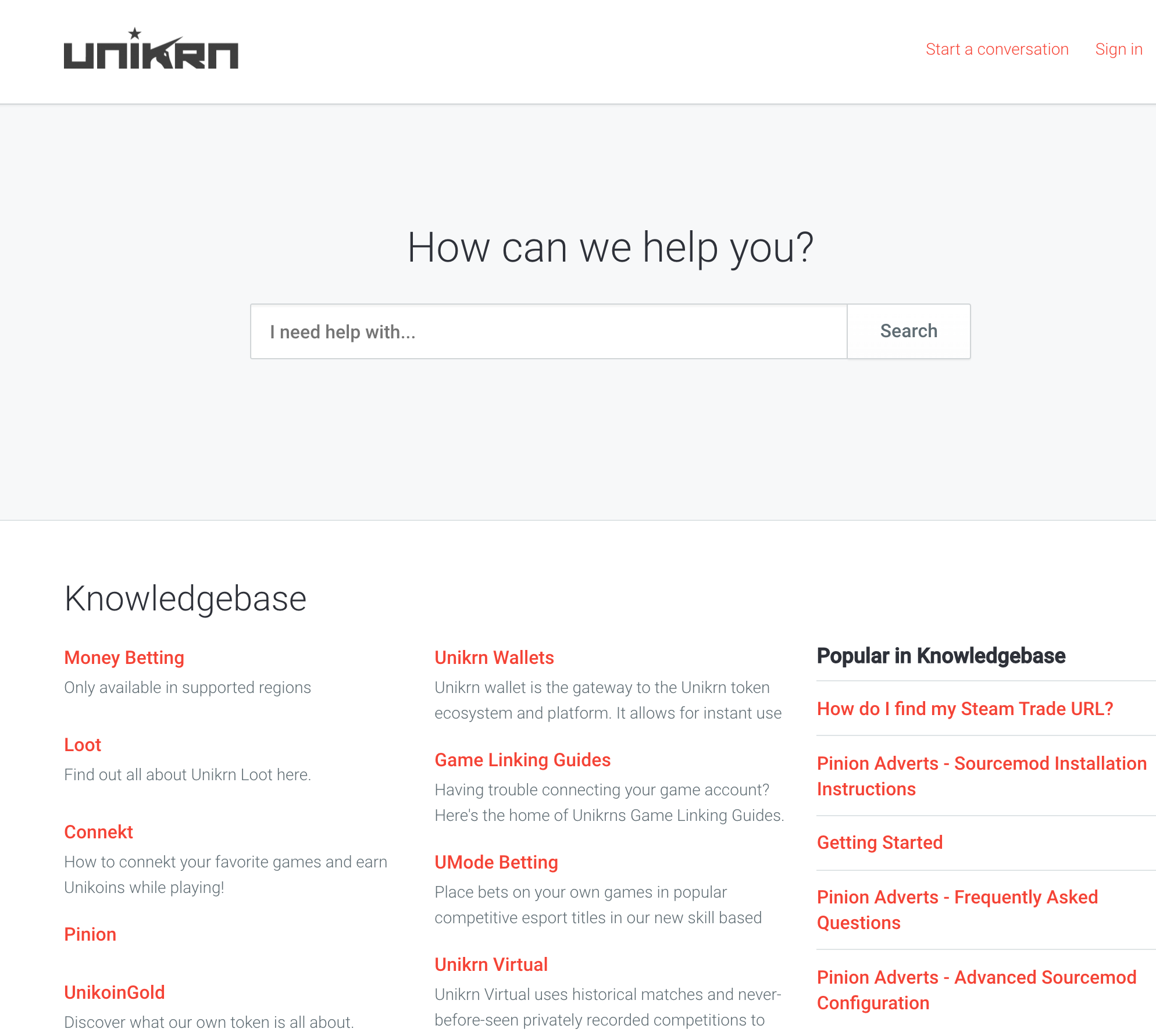 Unikrn support